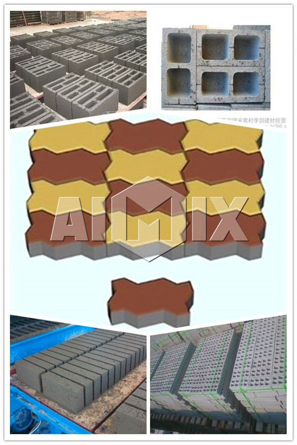 Many kinds of blocks made by fly ash brick making machine