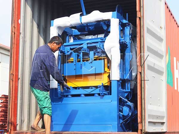 Aimix block machine sent to the Philippines