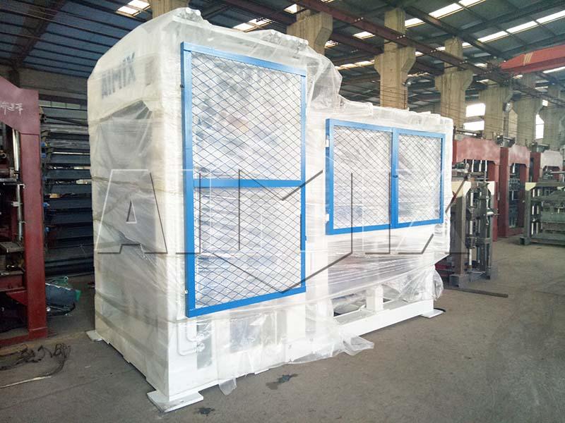 Aimix concrete block machine sent to Domica