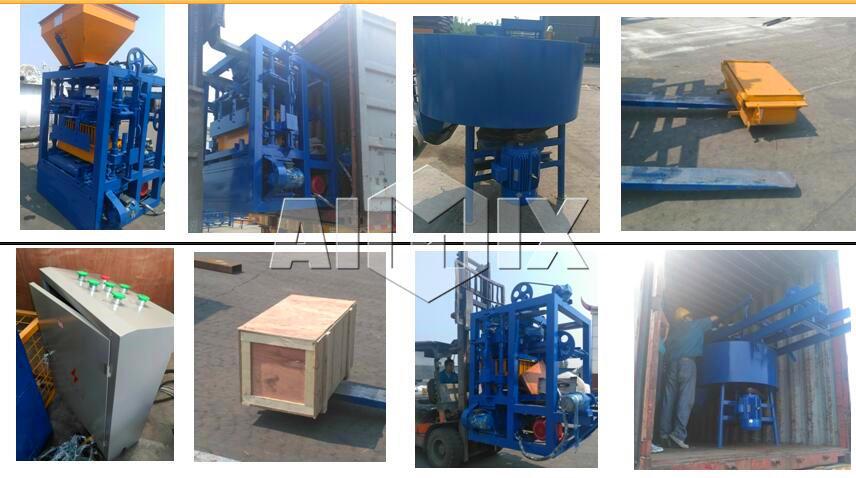 Aimix interlocking block machine sent to the Philippines