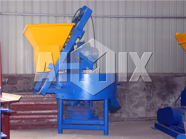 compulsory mixer of block molding machine