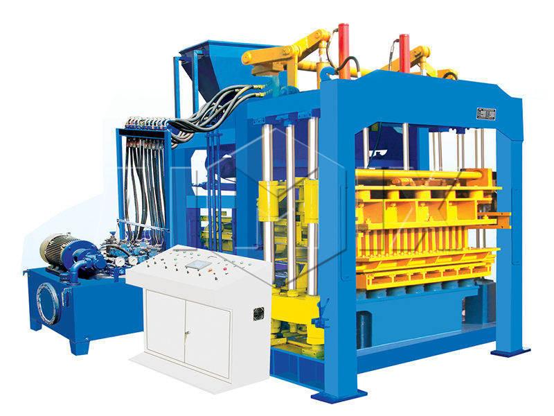 QT12-15 automatic concrete block making machine