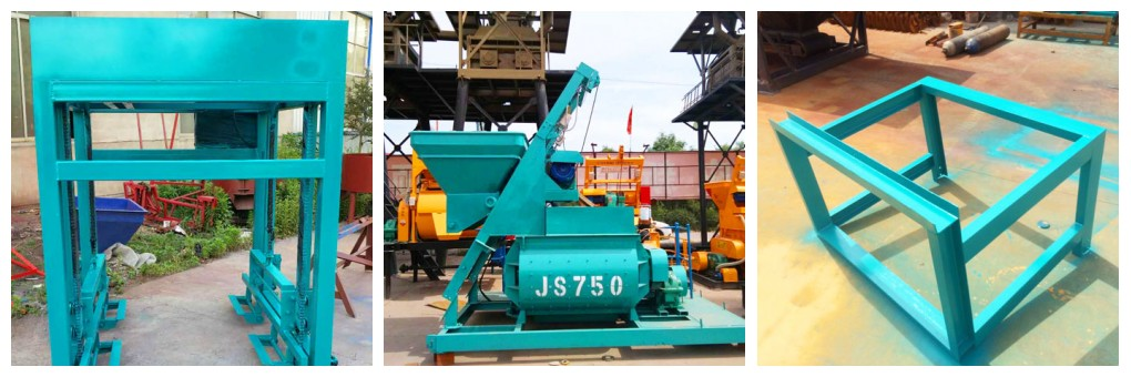 ABM-12S concrete block making machine has been painted and ready to Australia