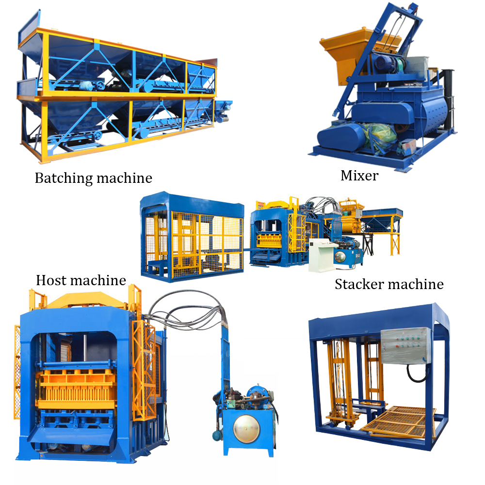 ABM-4SE automatic concrete block machine