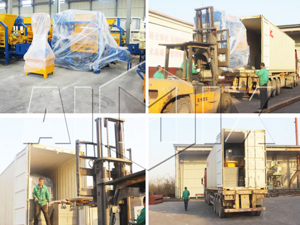 ABM-4SE concrete block making machine for sale was goint to Thailand