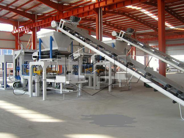 QT4-25 fully automatic fly ash brick making machine
