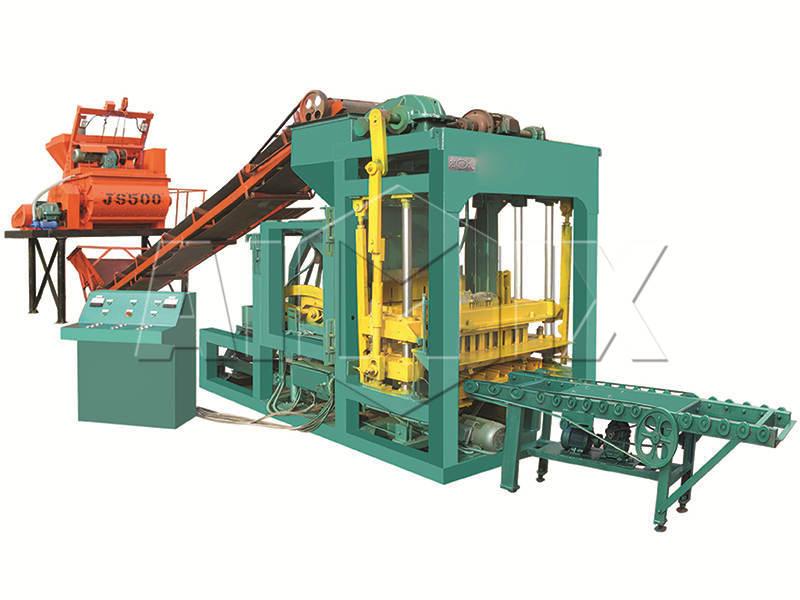 QT4-25 semi automatic fly ash brick making machine