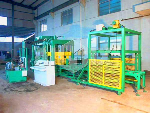 QT6-15 semi automatic fly ash brick machine