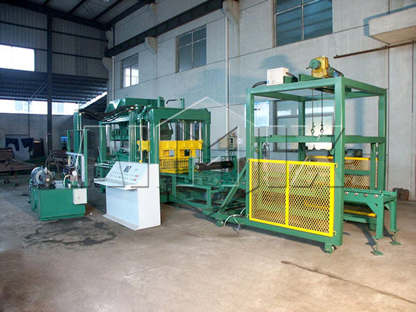 QT6-15 fully automatic fly ash brick making machine