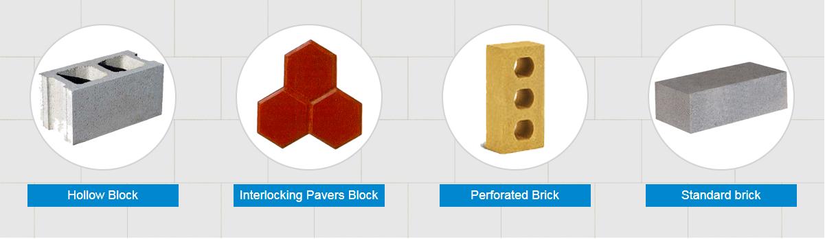 brick and blocks produced by Aimix block machine