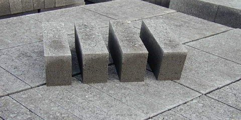 finished products: concrete blocks