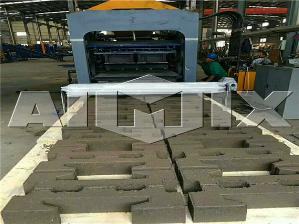 the machine making paving blocks