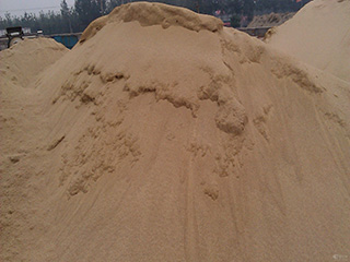 sand- raw material of blocks