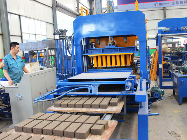 standard concrete brick production