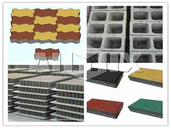 various kinds of blocks made by block machine