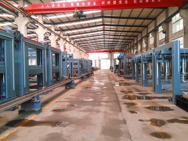 workshop of brick machine