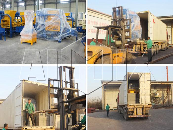 QT4-25 Small Block Making Machine To Thailand