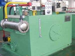 hydraulic system of concrete block machine