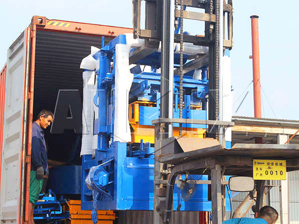 delivery of hollow bricks machine