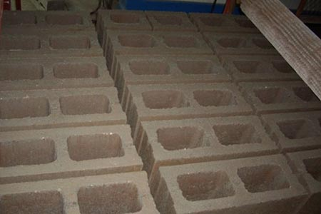 finished hollow bricks