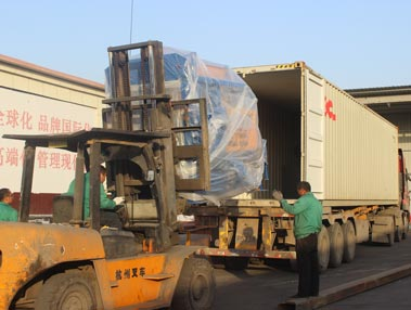 shipment of brick machine