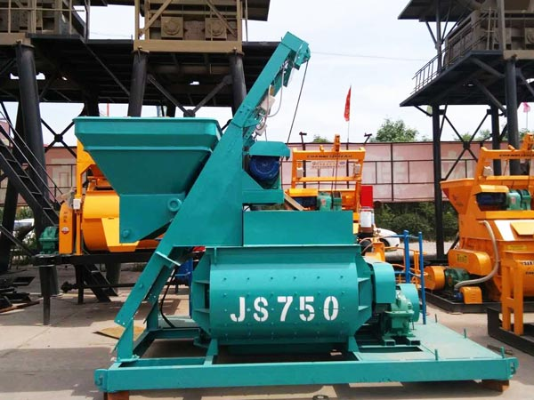 twin shaft oncrete mixer