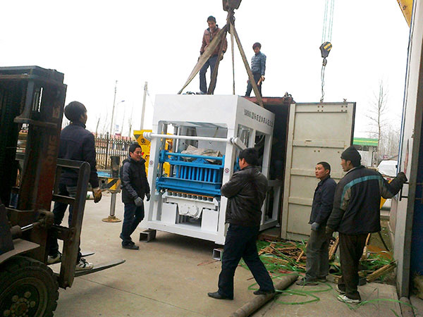 shipment of ABM-12S cement brick machine to Dominica