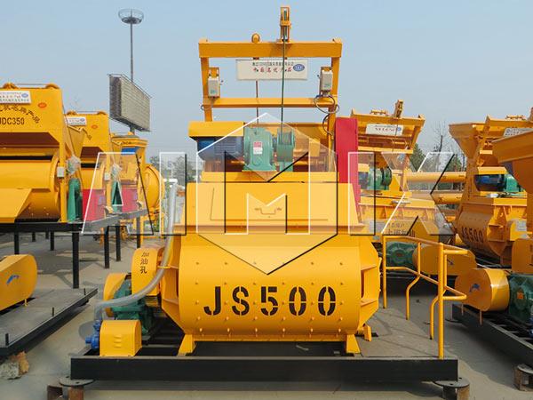 JS500 twin shaft mixer