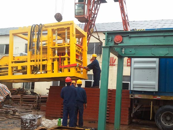 shipment of ABM-10S bricks machine