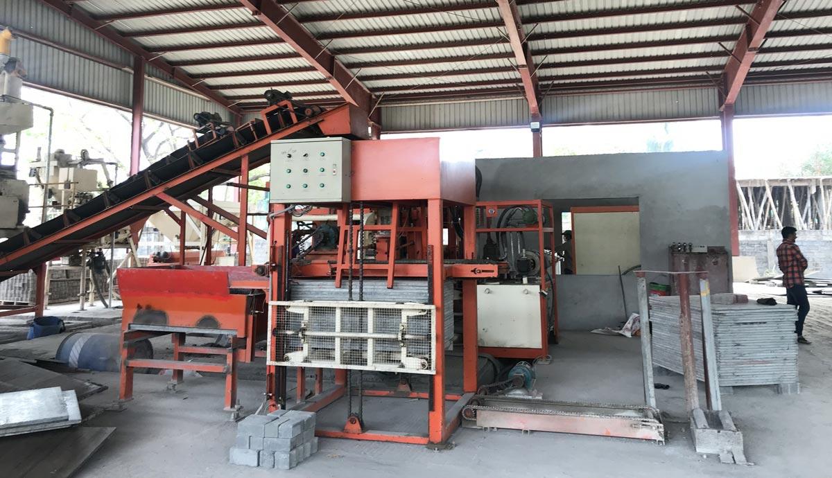 installation of ABM-6S concrete block machine in Bangladesh