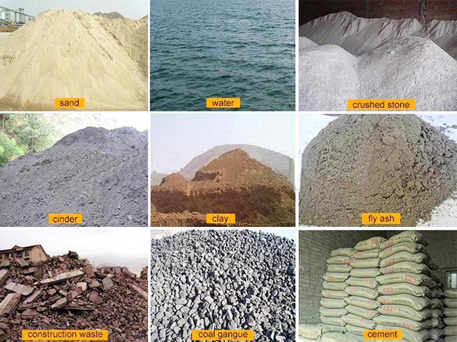 raw materials of brick production