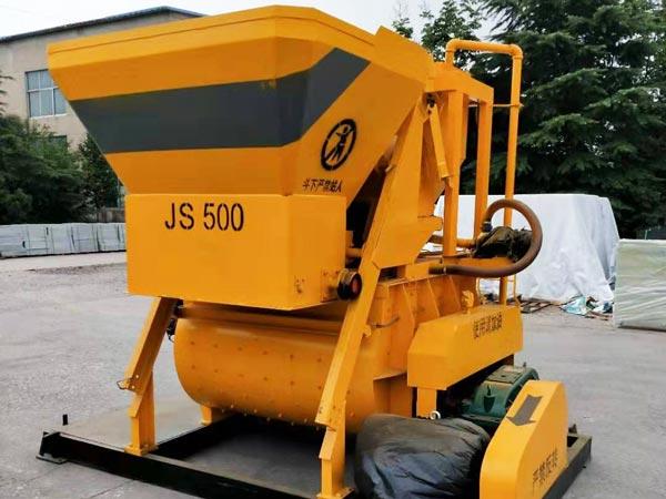 JS500 twin shaft concrete mixer
