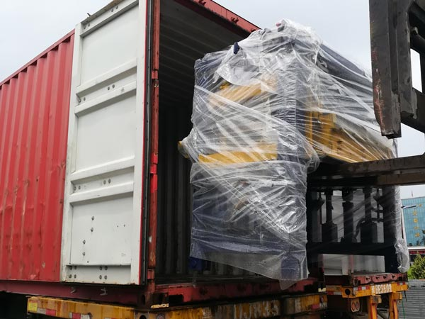 shipment of ABM-8S cement block machine