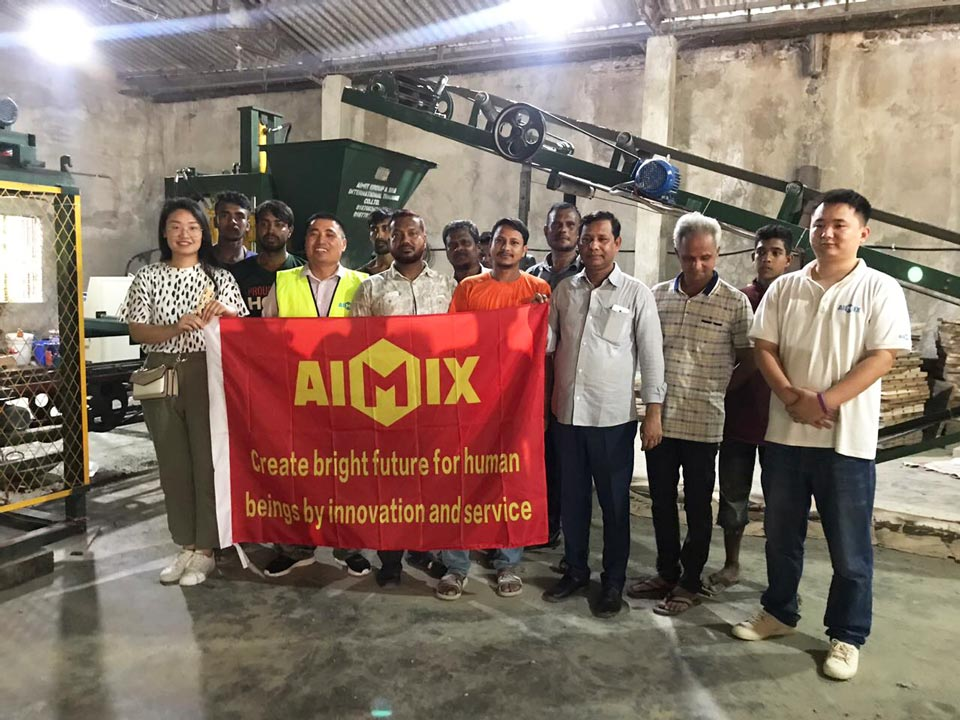 AIMIX after-sales maintenance team in Bangladesh