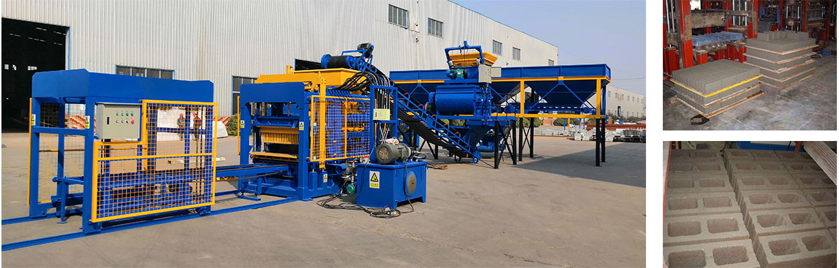 Automatic hollow brick machine