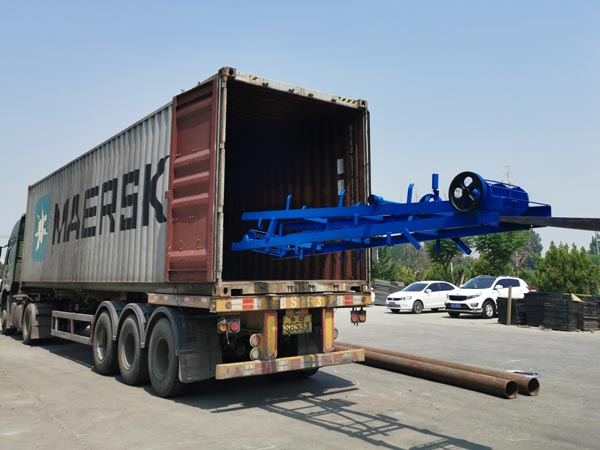 delivery of ABM-3S block machine