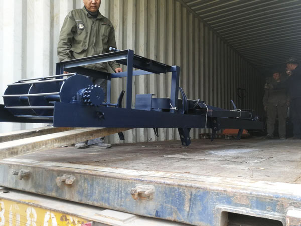 delivery of clay brick machine