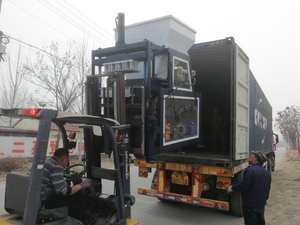 shipment of clay brick machine