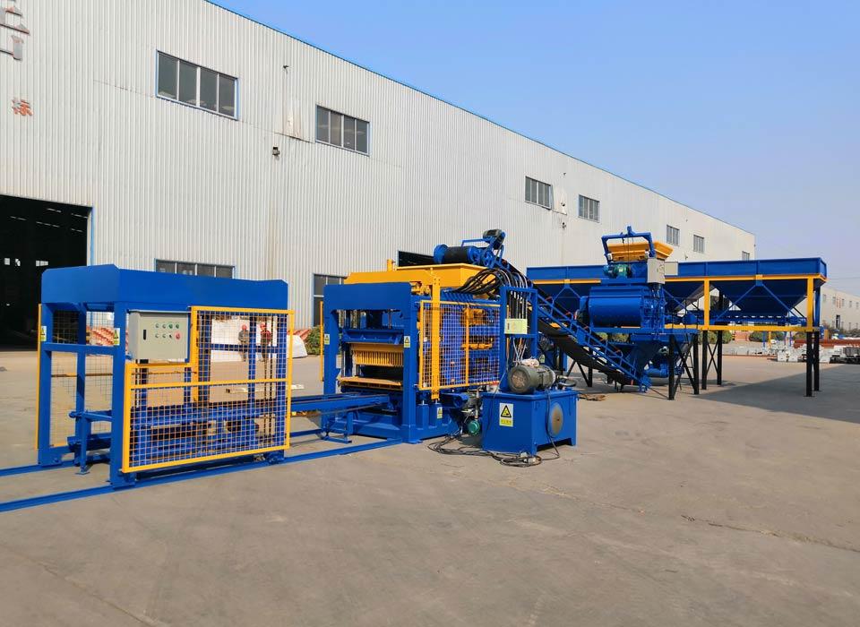 ABM-4S automatic concrete brick making plant