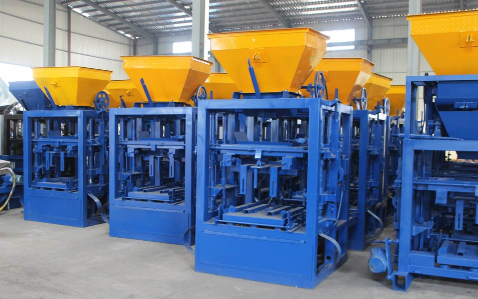 ABM-4SE semi automatic interlocking brick machine