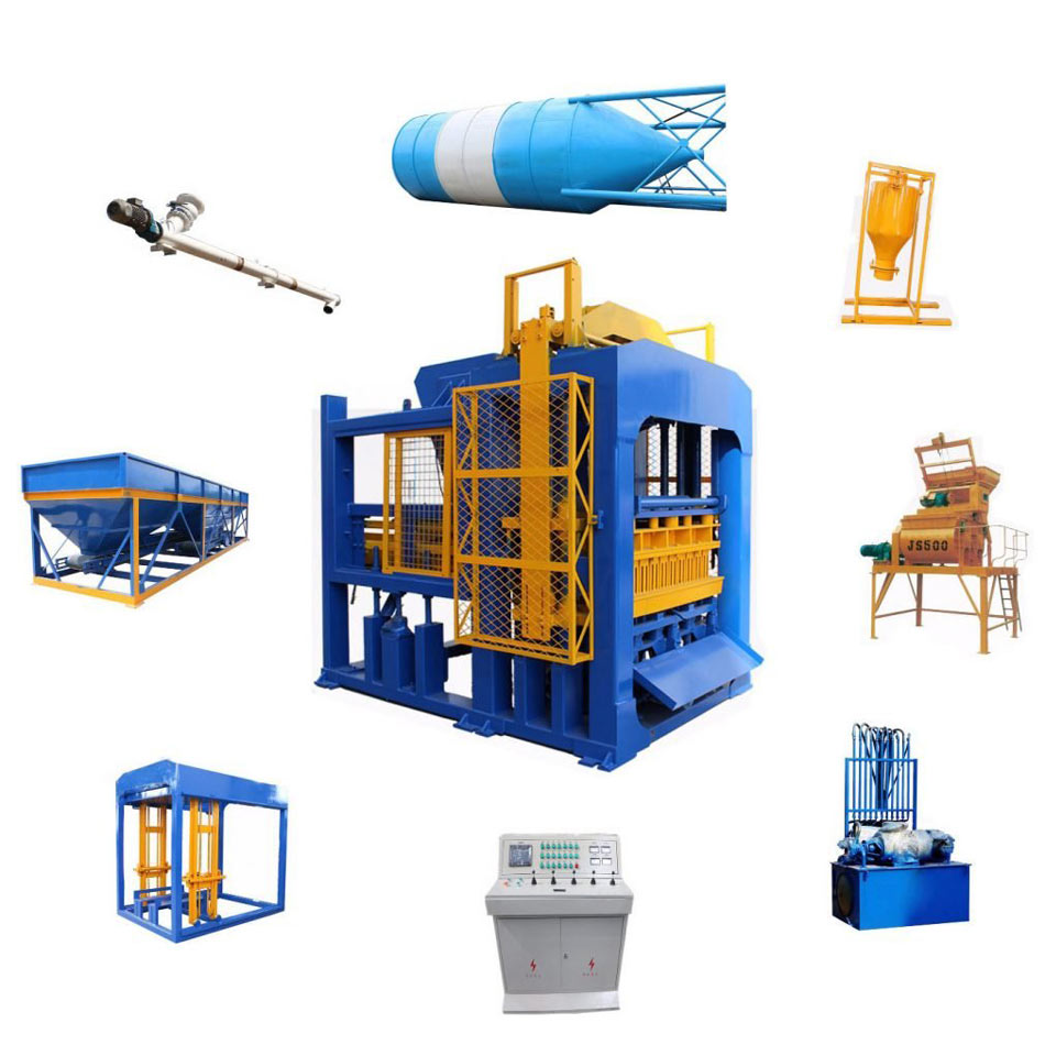 compact structure of cement block machine