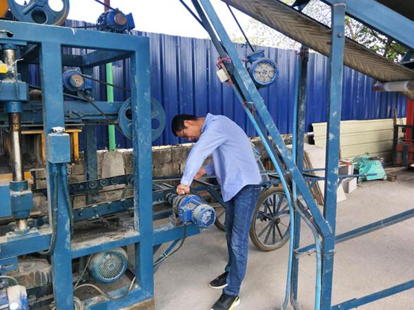 install cement brick machine