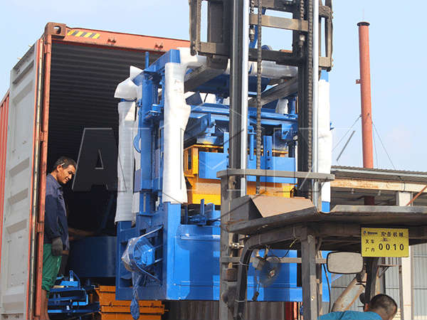 delivery of ABM-4SE cement block machine