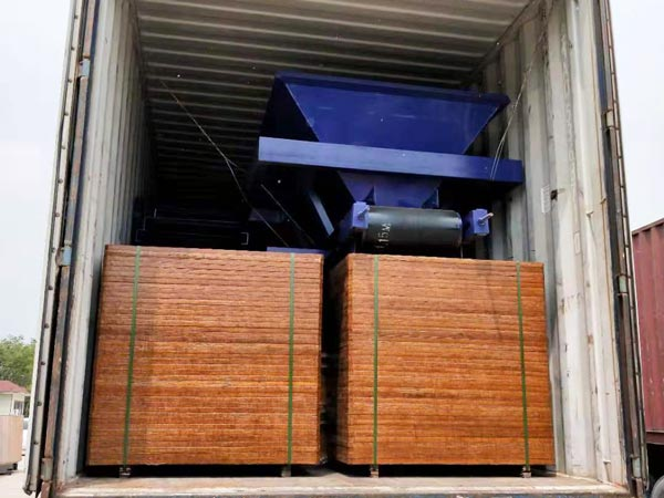 pallets of ABM-4SE block machine