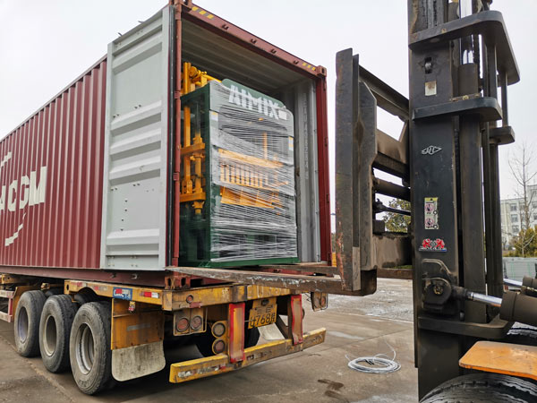 ABM-4S cement brick machine to Philippines