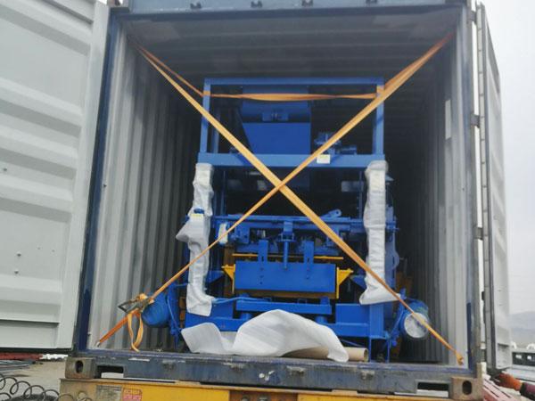 concrete block machine to Nigeria