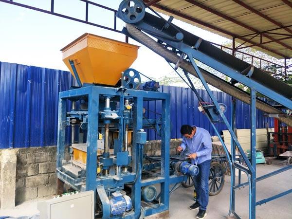 debug of ABM-4SE brick machine in Philippines