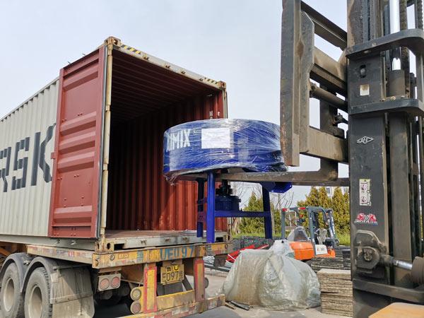 pan mixer of automatic concrete block machine