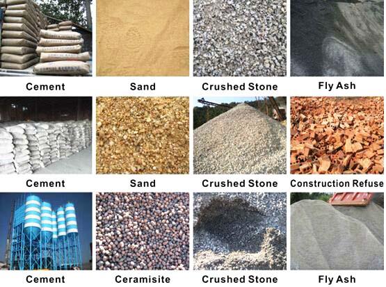 raw materials of block making