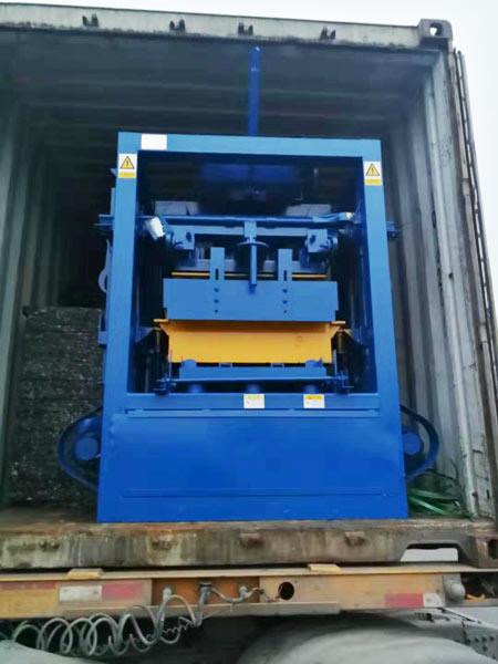 shipment of ABM-4SE block machine
